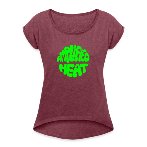 AHGREEN - Women's T-Shirt with rolled up sleeves