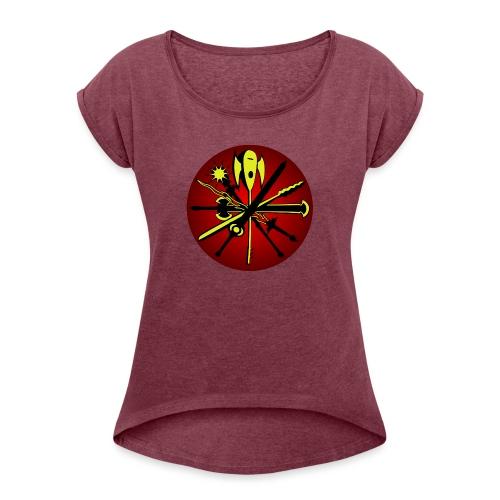 Iron Dawn v2 - T-skjorte med rulleermer for kvinner