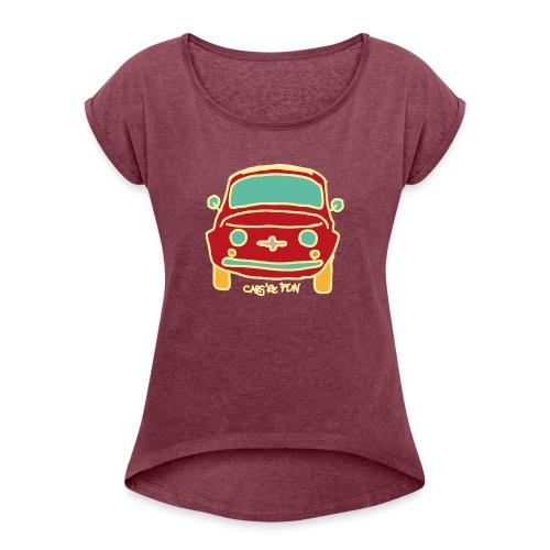 Voiture ancienne mythique - T-shirt à manches retroussées Femme