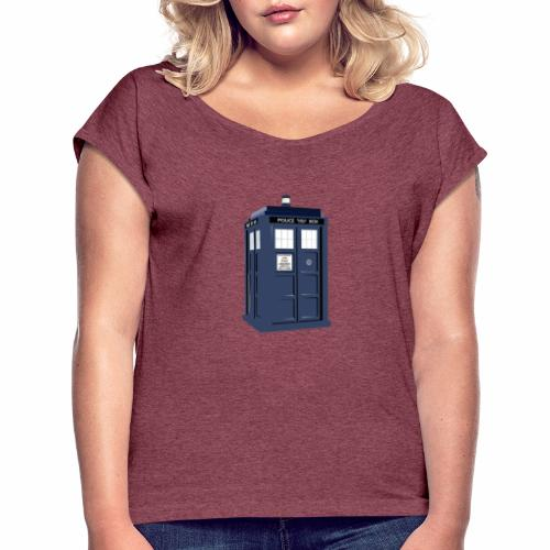 Tardis - Women's T-Shirt with rolled up sleeves