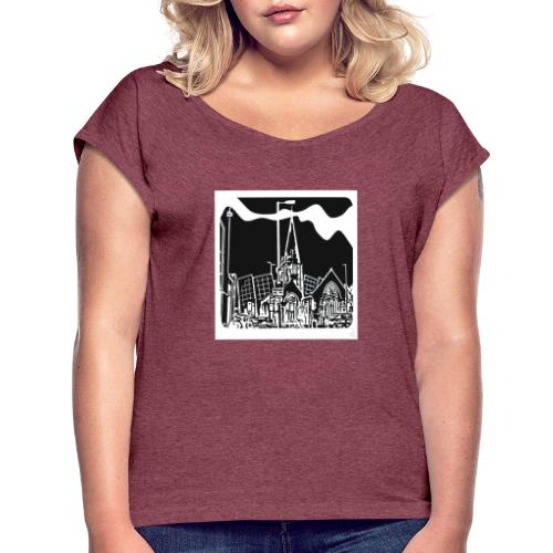 Church iconic - Women's T-Shirt with rolled up sleeves