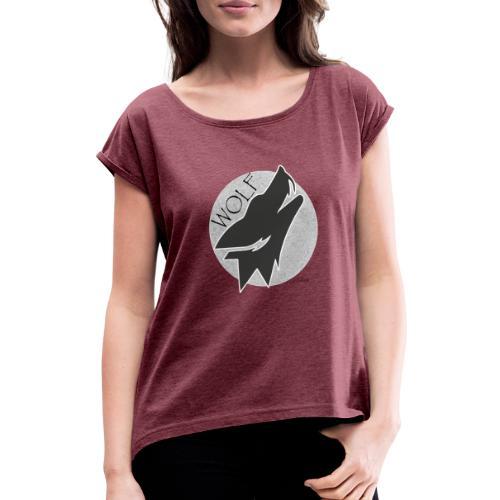 wolf - T-shirt à manches retroussées Femme