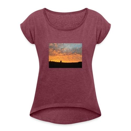 Himmel - T-skjorte med rulleermer for kvinner