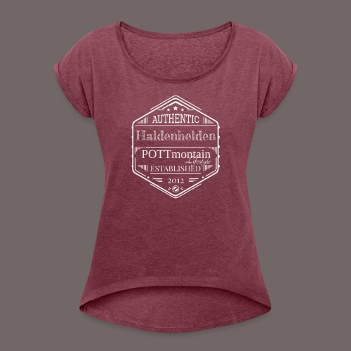 Haldenhelden Denim No.1w - Frauen T-Shirt mit gerollten Ärmeln