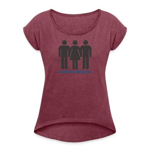 mente abierta 1 - Camiseta con manga enrollada mujer