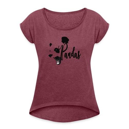 pandas - Camiseta con manga enrollada mujer