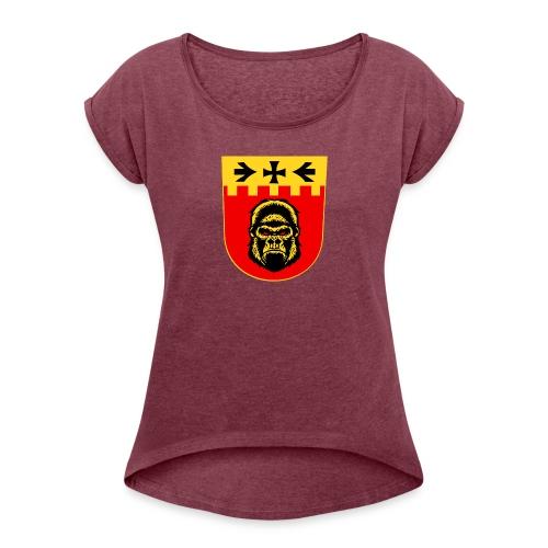 turbo vaakuna - Naisten T-paita, jossa rullatut hihat