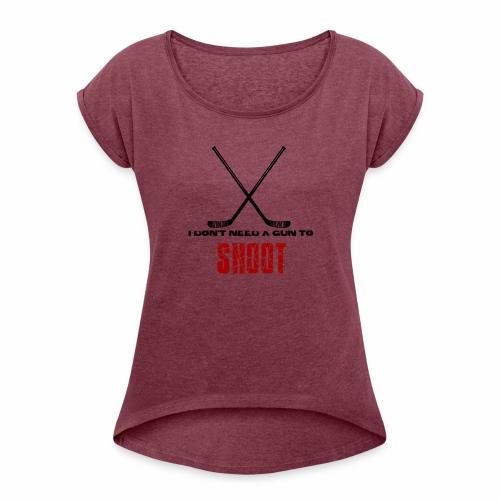no gun - T-shirt à manches retroussées Femme