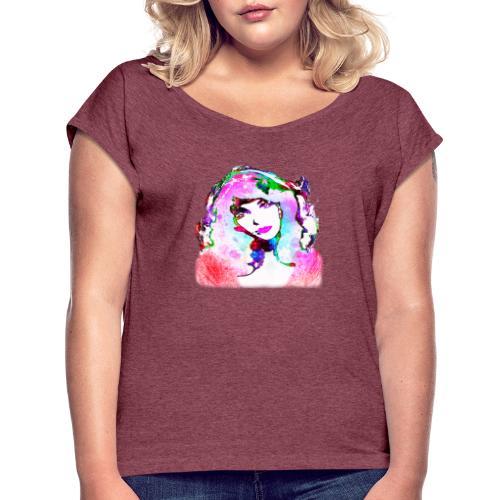 Painted Kate - Frauen T-Shirt mit gerollten Ärmeln