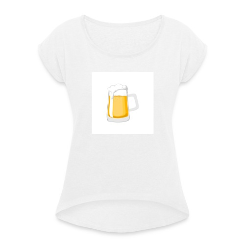 1 drink - Women's T-Shirt with rolled up sleeves