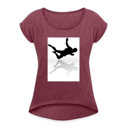 Paracaidista - Camiseta con manga enrollada mujer