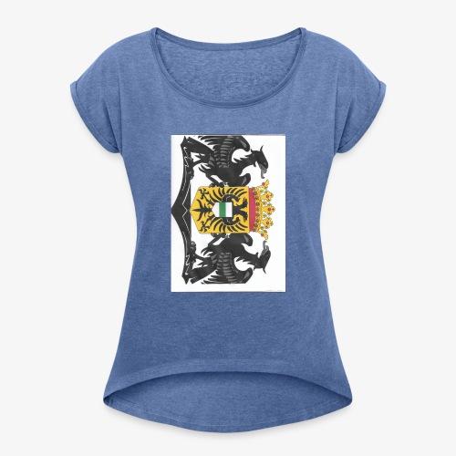 groningen - Vrouwen T-shirt met opgerolde mouwen