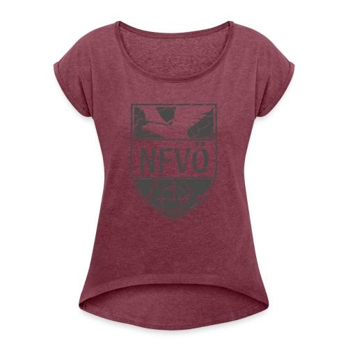 NFVO Patch-Like - Frauen T-Shirt mit gerollten Ärmeln