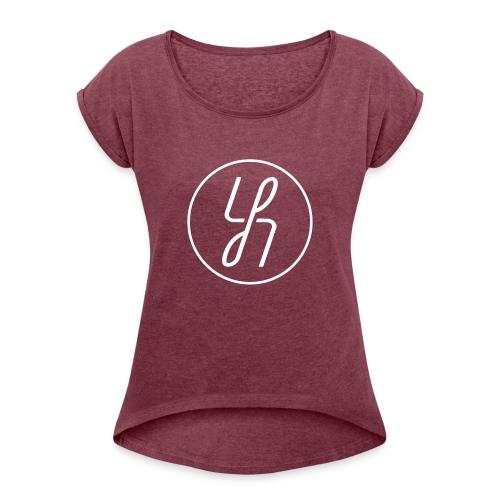 YH - Vrouwen T-shirt met opgerolde mouwen