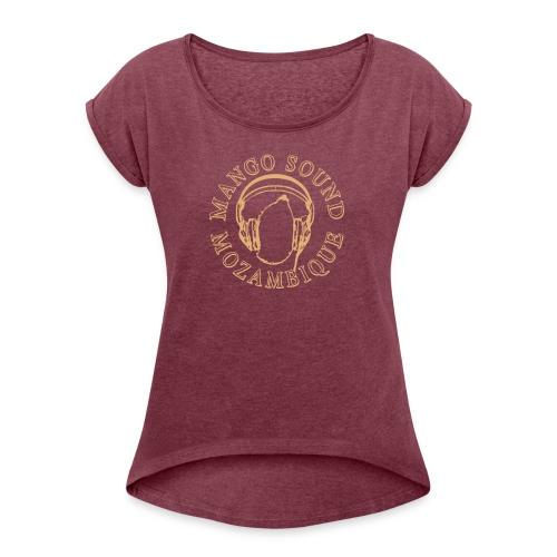 Mango Sound 1c - Frauen T-Shirt mit gerollten Ärmeln
