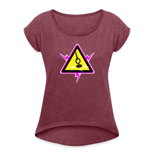 Drasticg logo - Women's T-Shirt with rolled up sleeves