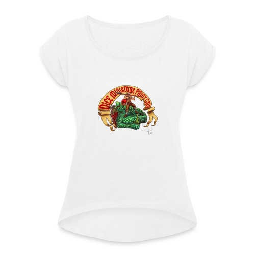 DiceMiniaturePaintGuy - Women's T-Shirt with rolled up sleeves