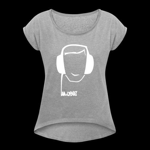 earProtect - Frauen T-Shirt mit gerollten Ärmeln