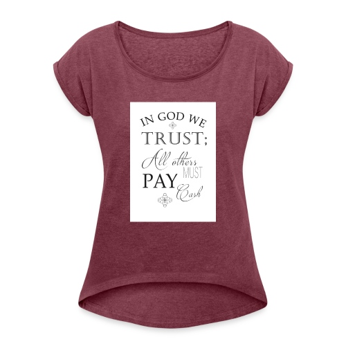 Amen - Women's T-Shirt with rolled up sleeves