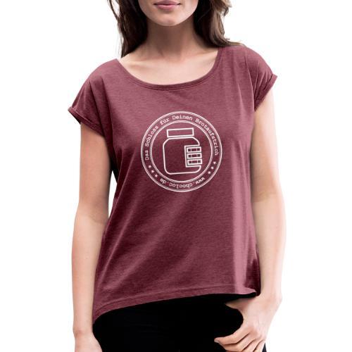 Chocloc - Stempellogo - Frauen T-Shirt mit gerollten Ärmeln