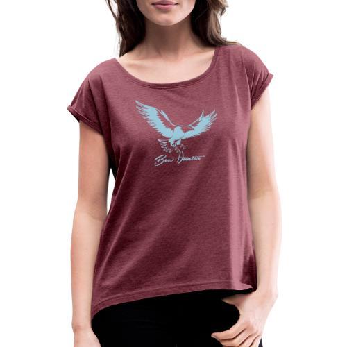 Eagle Bow Hunter - Frauen T-Shirt mit gerollten Ärmeln