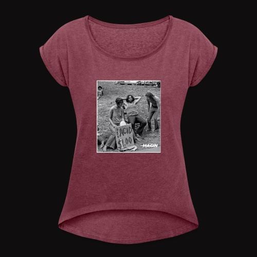 One Acid - T-shirt à manches retroussées Femme