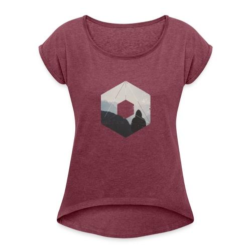 Ferne - Frauen T-Shirt mit gerollten Ärmeln