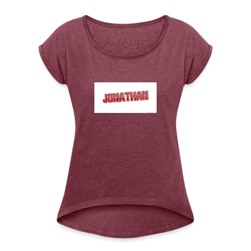 Jonathan - T-shirt med upprullade ärmar dam
