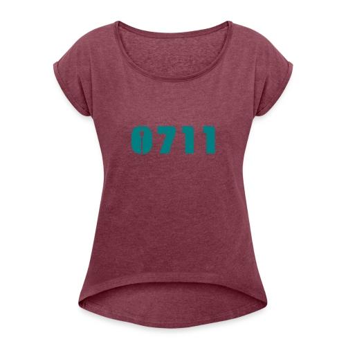 Baby-Mütze Stuttgart-0711 - Frauen T-Shirt mit gerollten Ärmeln