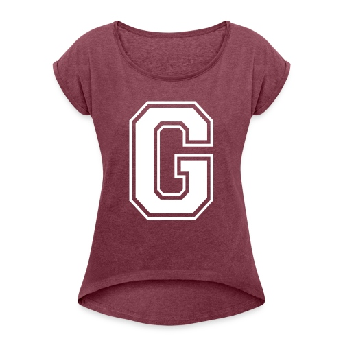 Grime Apparel G Grey Shirt. - Women's T-Shirt with rolled up sleeves
