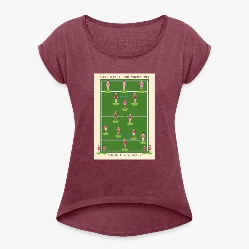 1987 World Club Champions - Women's T-Shirt with rolled up sleeves
