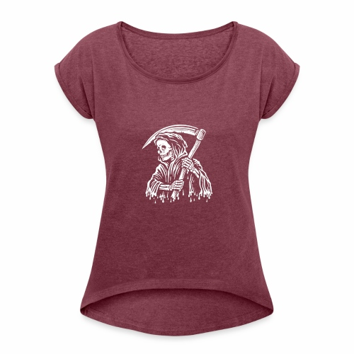 Grim Reaper. - Camiseta con manga enrollada mujer