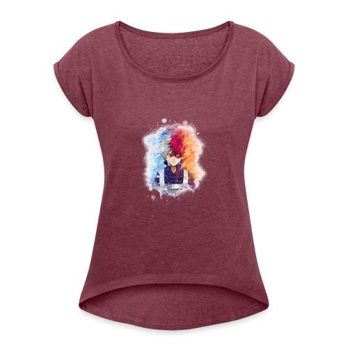 Sans titre 1 as watercolor 5 - T-shirt à manches retroussées Femme