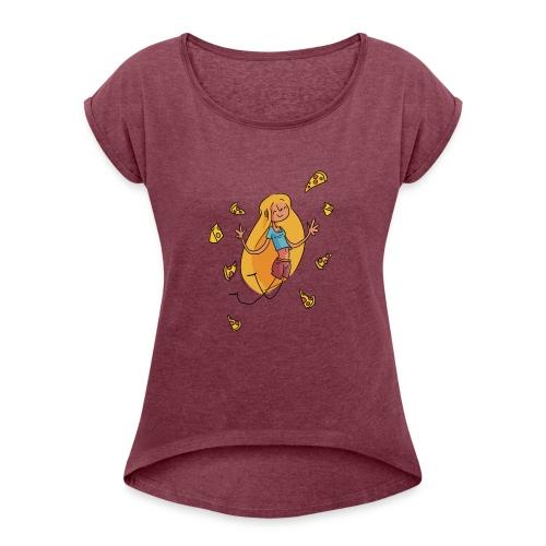 Cheese Lover - T-shirt à manches retroussées Femme