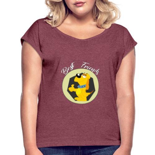 Best friends - Camiseta con manga enrollada mujer