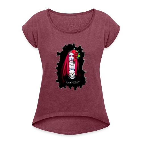 Catrina I Love Night - Rotura - Camiseta con manga enrollada mujer