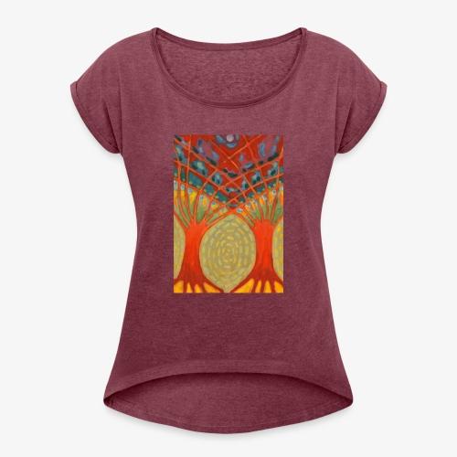 Do Nieba - Koszulka damska z lekko podwiniętymi rękawami