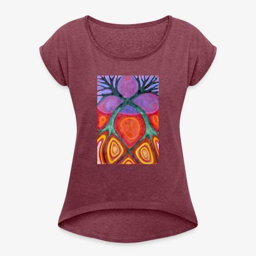 Do Siebie - Koszulka damska z lekko podwiniętymi rękawami