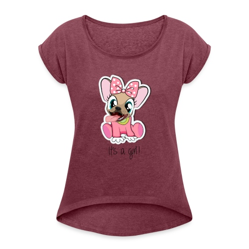 Baby Naya - It's a Girl - T-shirt à manches retroussées Femme