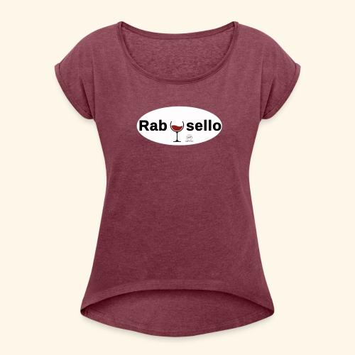 new rabosello - Maglietta da donna con risvolti