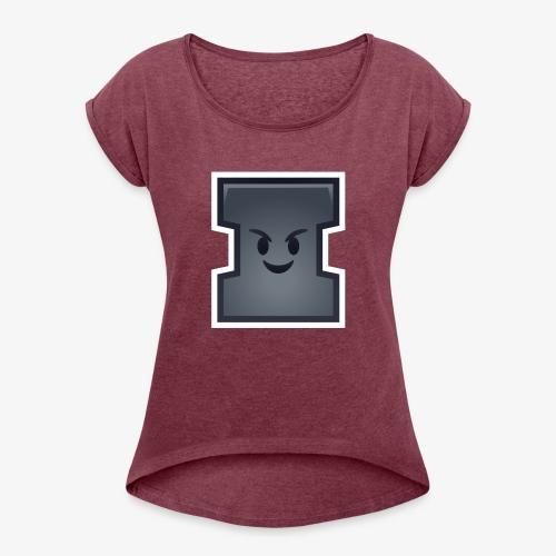 Polo Pana Kostki Brukowej ! - Koszulka damska z lekko podwiniętymi rękawami