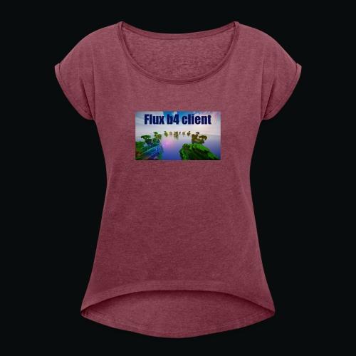 Flux b4 client shirt - T-shirt med upprullade ärmar dam