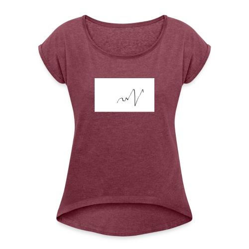 ritmo del cuore - Maglietta da donna con risvolti