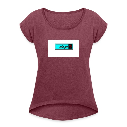 cool sddpm merch - Women's T-Shirt with rolled up sleeves