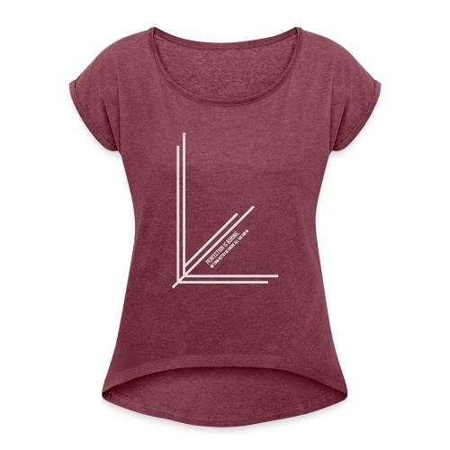 Perfection_Black - Vrouwen T-shirt met opgerolde mouwen