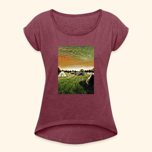 Die Zeltwiese - Frauen T-Shirt mit gerollten Ärmeln