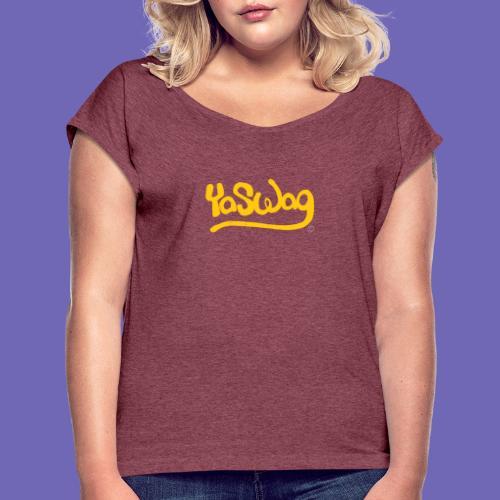 YaSwag - T-shirt à manches retroussées Femme