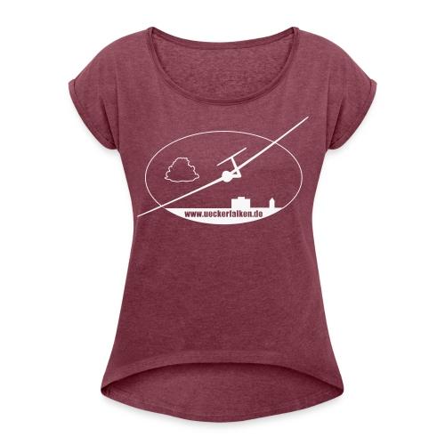 logo franzfelde4 - Frauen T-Shirt mit gerollten Ärmeln