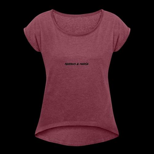 markus och maria - T-shirt med upprullade ärmar dam