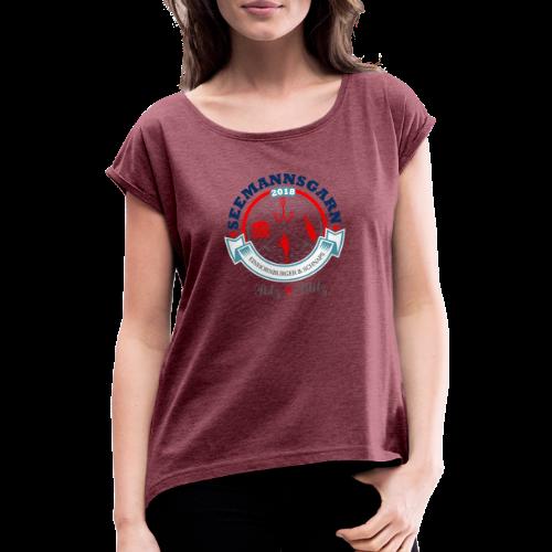geweihbär Seemannsgarn 3 - Frauen T-Shirt mit gerollten Ärmeln